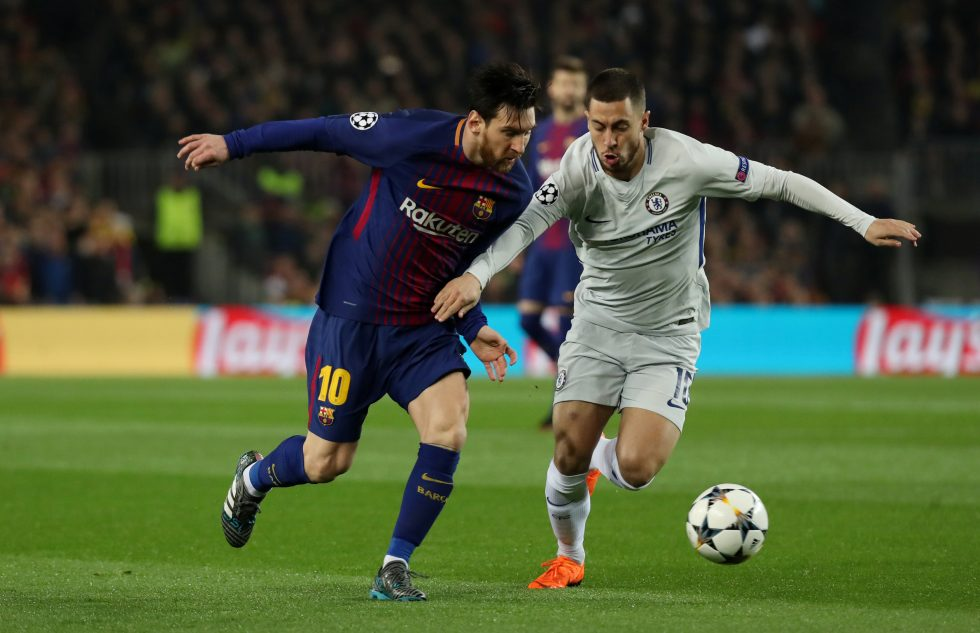 Messi vs Hazard dribbling