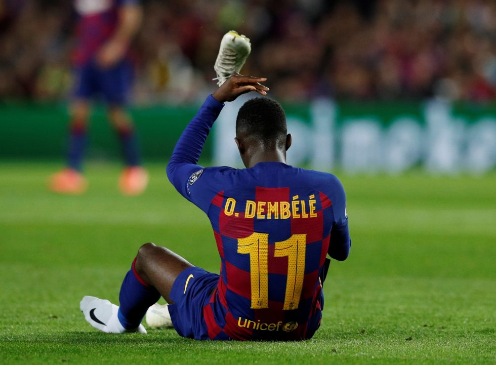 Ousmane Dembele facing 10 weeks out with thigh injury