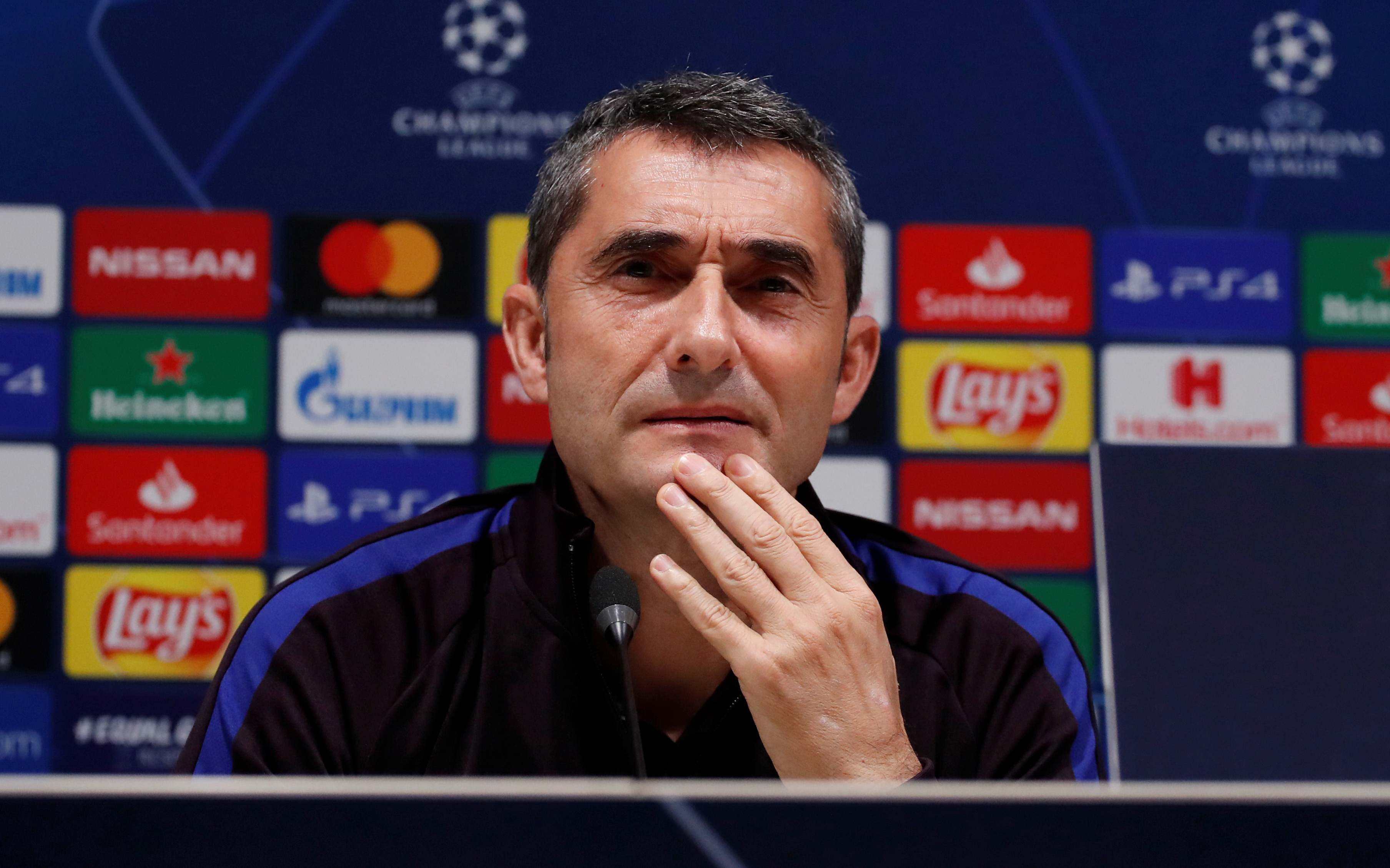 Valverde discusses Messi and co at San Siro