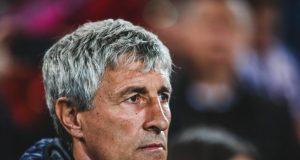 New Barcelona boss Quique Setien shows skills in training