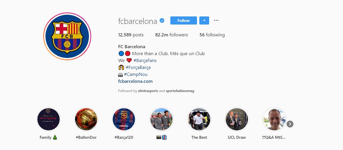 FC Barcelona Instagram photos