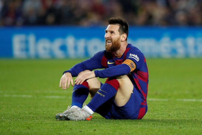 New Barcelona boss Quique Setien reacts to Messi's goal