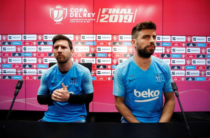 Barcelona's Gerard Pique leaves possibility open for Lionel Messi to leave for Napoli one day