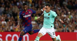Inter striker Martinez not thinking about Barcelona yet