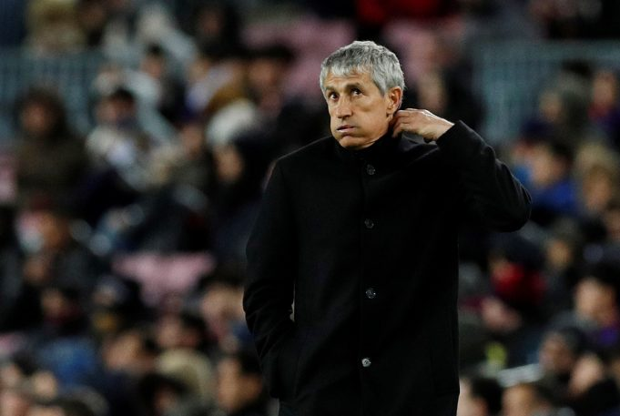 Quique Setien Makes Audacious Barcelona Claim After Copa Del Rey Exit