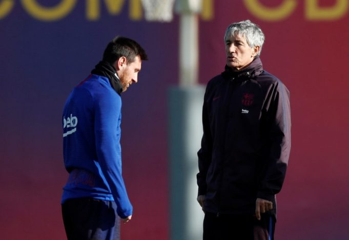 Setien Banishes Worries Over Messi's Injury
