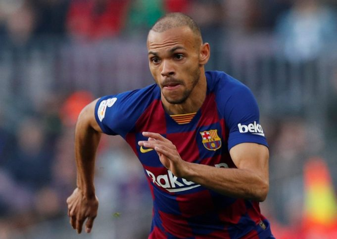 Everton And West Ham Battle For Barcelona's Braithwaite