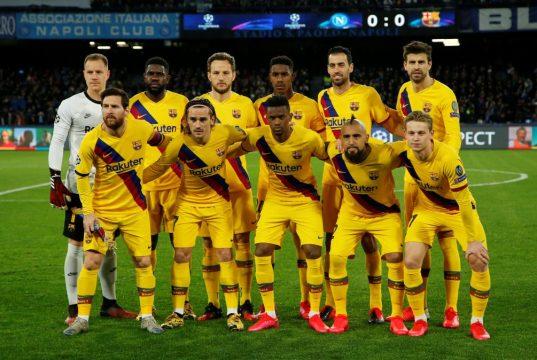 Barcelona predicted line up vs Napoli