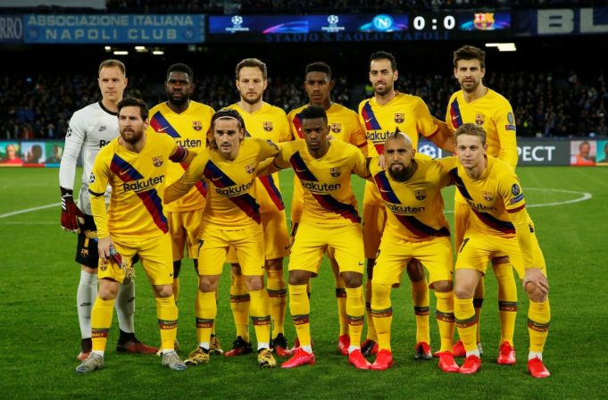 Barcelona predicted line up vs Napoli