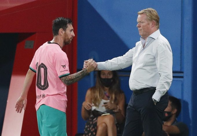Messi should be playing better according to Ronald Koeman