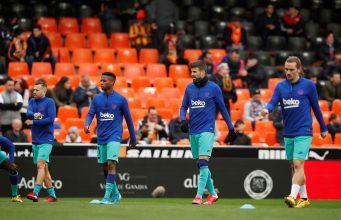 Barcelona Predicted Line Up vs Valencia