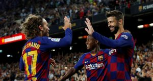 Pique and Griezmann reacts to Barca's CL exit