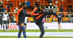 Gerard Pique defends his Barcelona teammate Samuel Umtiti