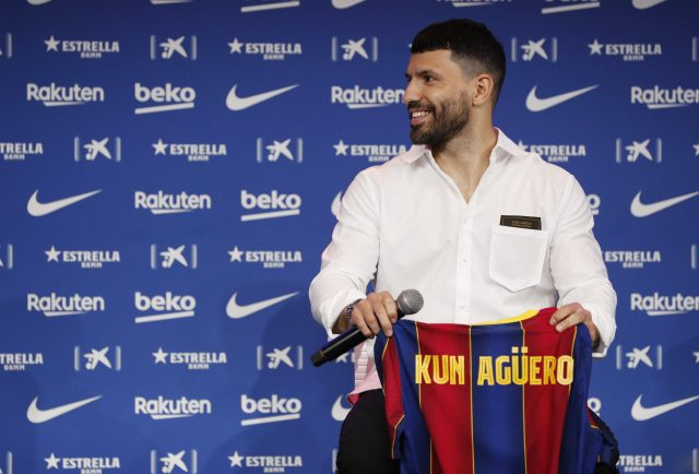 Summer signing Sergio Aguero reveals he refused the No.10 shirt