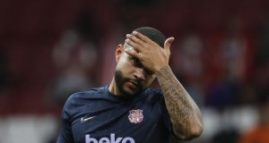 Memphis Depay asked if he regrets Barcelona move